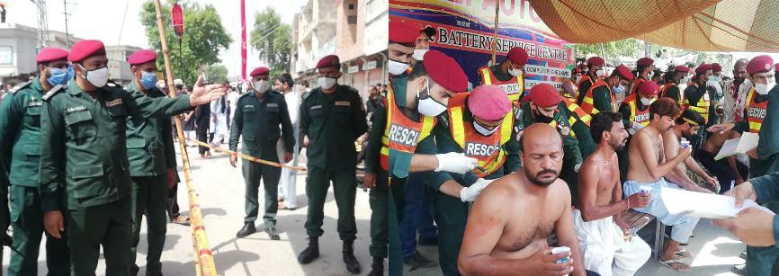 یوم عاشور2021 کے جلوسوں میں ریسکیو 1122 کی خدمات